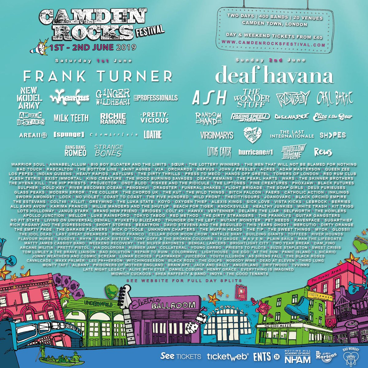 bea025ff0720c See you there for some Summer festival antics!  CamdenRocks   CamdenRocks2019  London  Livemusic  Festival  Seasonalpic.twitter .com lpFzAGe7db