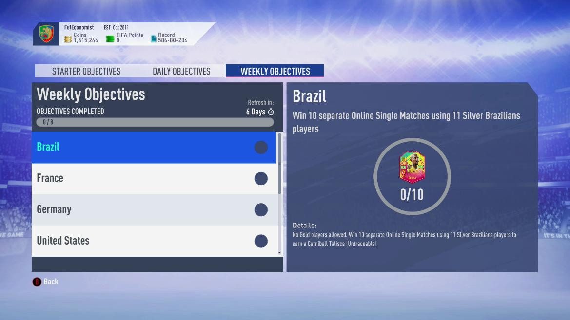 Looks at these weekly objectives!  Love this!  Low key, the silver pack method might be an option for the next several days.