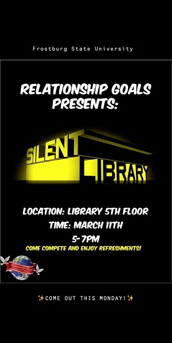 Join us in the library on Monday! ✨Fun games, refreshments and more.