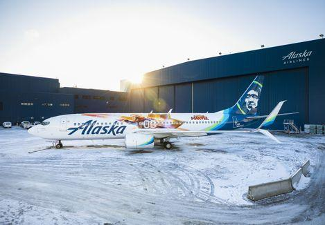 We're on board with this @AlaskaAir #CaptainMarvel-themed #Boeing 737 airplane on #InternationalWomensDay as we celebrate women around the globe who embody strength and confidence and inspire future aviators to soar. Who's your real-life ♀️ Super Hero?