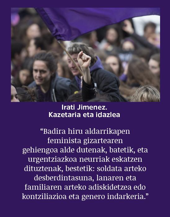 🙅♀️ Milaka emakume* berriz ere #M8GrebaFeminista-n kalean.  Gogora dakargu gaurkoan Irati Jimenezek ERRIAren 2. zenbakian argitaratutako artikulu hau.  'Helburu politikoak feminismo honentzat'  👇👇👇  http://erria.eus/berria/helburu-politikoak-feminismo-honentzat…
