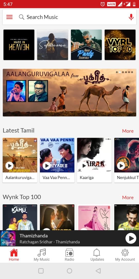 Check out #Aalanguruvigalaa track from #Bakrid on @WynkMusic ! A shoutout to all Airtel users! Here is the link:- https://wynk.in/u/oIByMDrPR   Praise God!