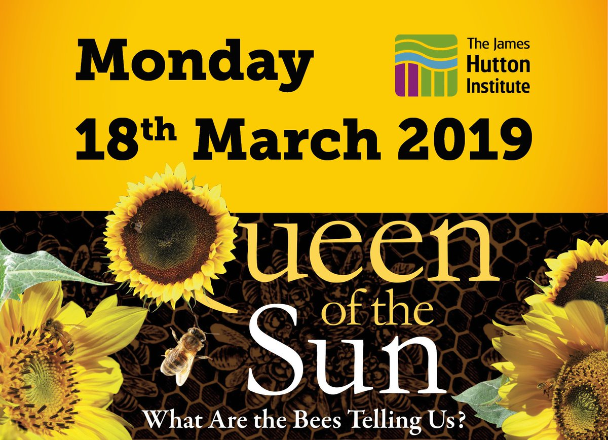 Join us on the 18th March on our Aberdeen site for a free screening of 'Queen of the Sun – What are the Bees telling us? 'The film takes you on a journey through the catastrophic disappearance of bees and the mysterious world of a beehive. Register:https://bit.ly/2GEtErt #CWNE19
