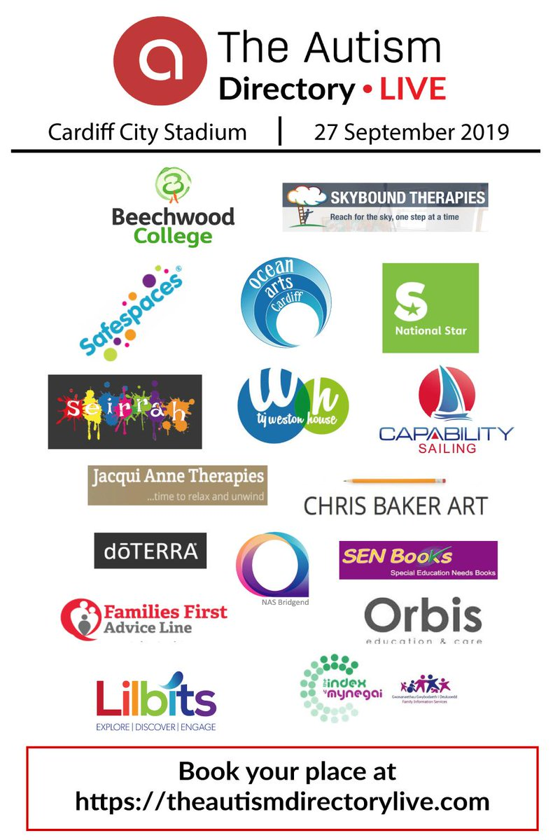 We now have 717 registered visitors for our show in #Cardiff on the 27th September! Take a look and book your place to see the exhibitors below and many more by visiting http://theautismdirectorylive.com/visiting/ #Cardiff #TADLive
