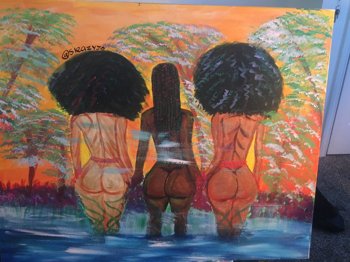 RT @sleazyjo: Had to bring this gem back for #InternationalWomansDay 🌻  Harmony  Acrylic on canvas  24 X 30in https://t.co/VxjWxa4ehj