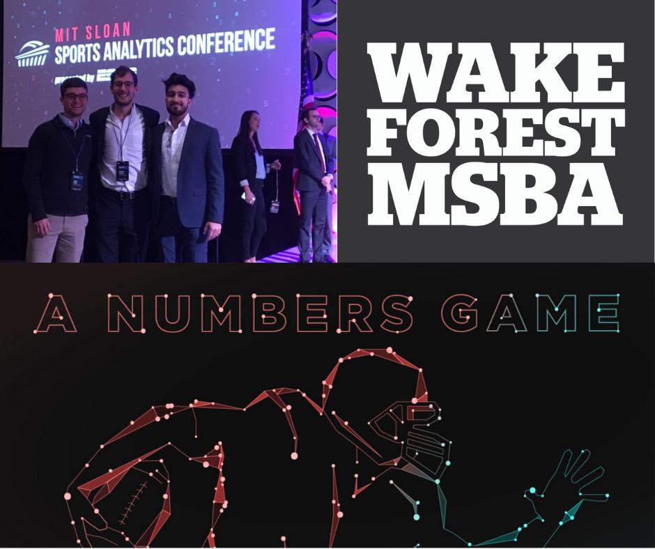 Three of our #datadeacs were top 3 finalists at the sports analytics hackathon @SloanSportsConf @MIT. Learn how they're using #businessanalytics knowledge @WakeForestBiz  https://t.co/9UUjXuynJg #bizdeacs #godeacs