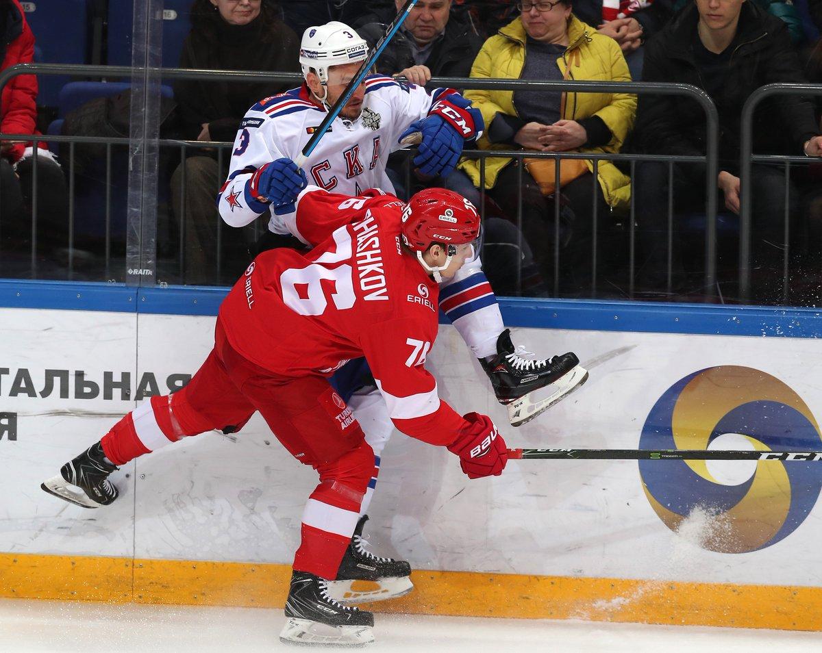 «Спартак» уступил СКА в 6-м матче серии и выбыл из плей-офф (Видео)