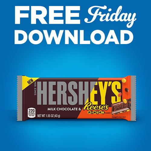 This duo will get your weekend started off right! Grab your digital coupon and get a free Hershey's Milk Chocolate with Reese's Pieces Candy Bar. Download today by 11:59 pm and redeem within 2 weeks. http://spr.ly/6016EnV3Y