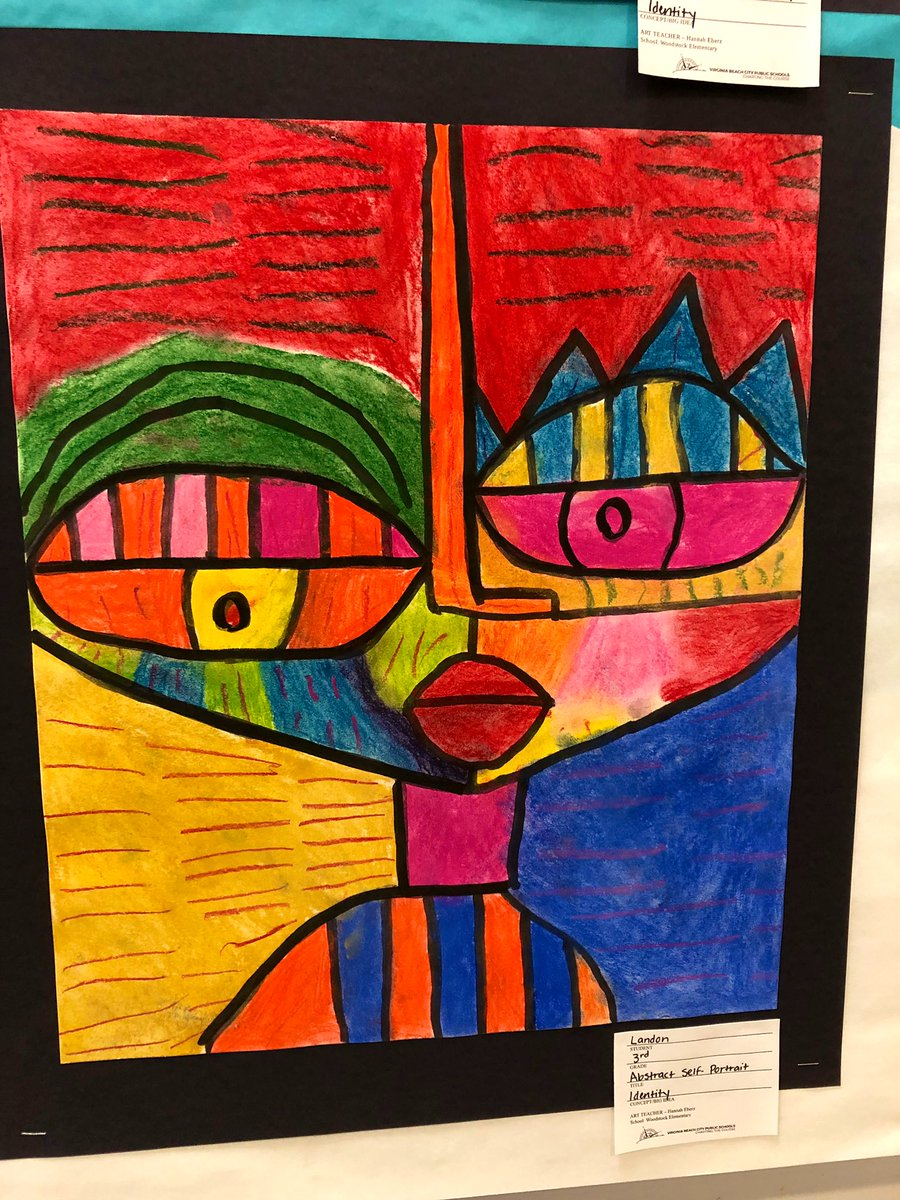 Abstract Self Protrait Art Elementary School