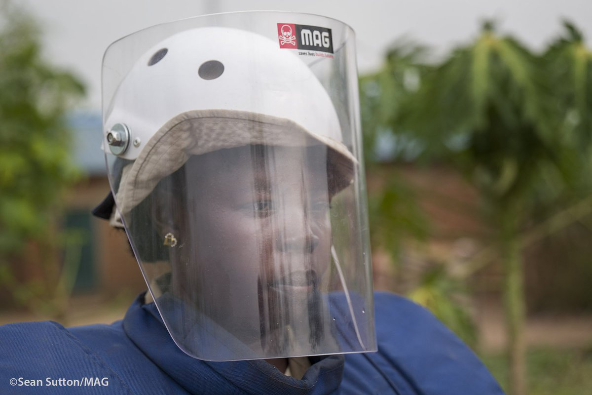 """Twenty amazing women graduated from MAG's first all-female demining class in South Sudan including Natasha, who used to work for MAG as a cook.  """"At first I was not sure about being a deminer because I was afraid, but now I love my job.""""  https://www.maginternational.org/whats-happening/international-womens-day/… #IWD2019"""