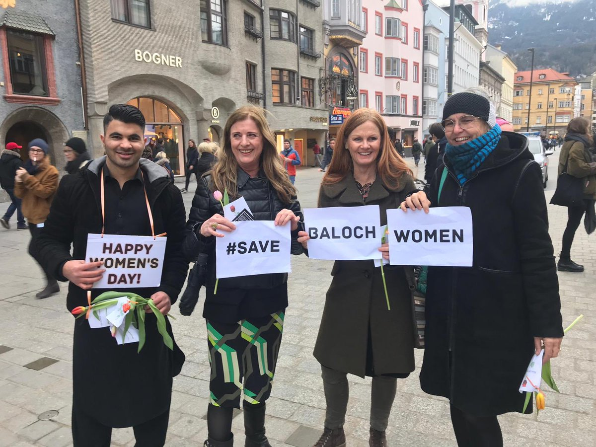 #FreeBalochistan Movement activists in Austria have organised an awareness campaign on International #WomenDay to highlight Pakistani and Iranian state brutalities against Baloch women.