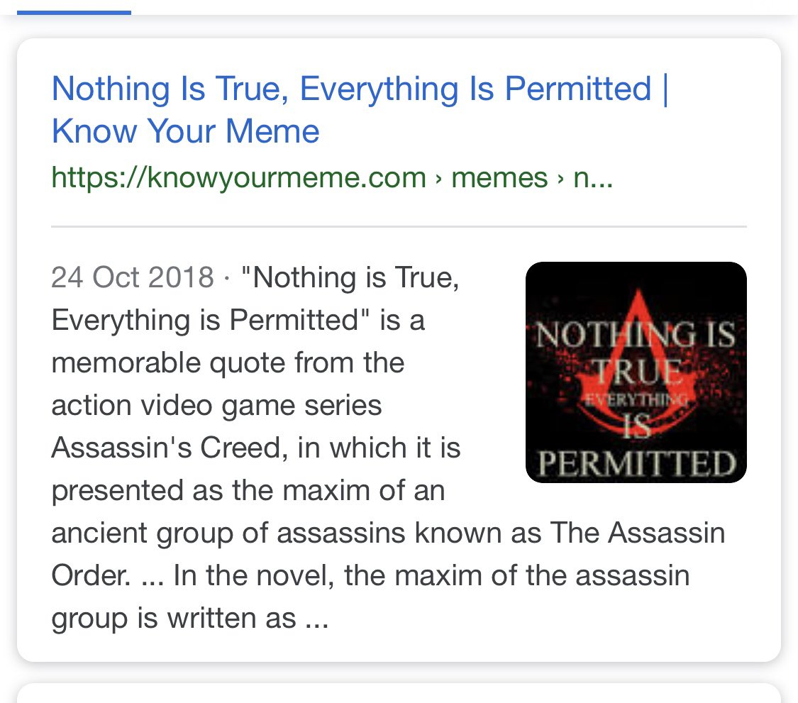 Insert Coin On Twitter Nothing Is True Everything Is Permitted