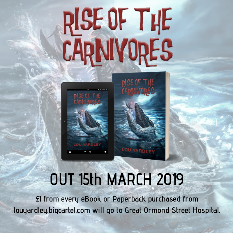 For EVERY order of #RiseOfTheCarnivores that comes from my online shop at http://louyardley.bigcartel.com , I'll donate £1 to @GOSHCharity to thank them for all of the hard work they do.