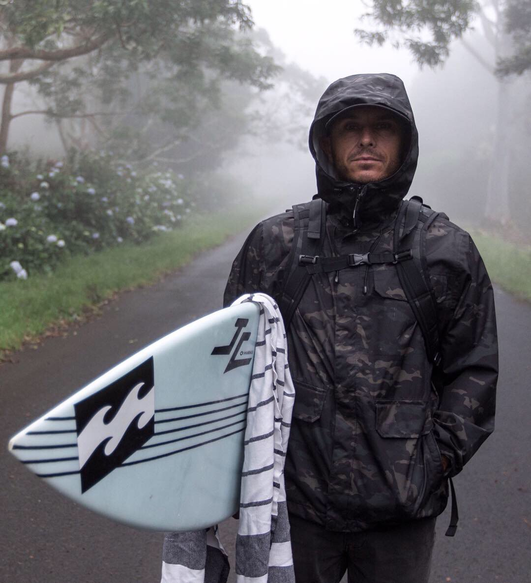 Rain or shine, gray skies or blue - Shane Dorian is always on the hunt.  Shop the Adventure Division x MultiCam® Black collection » http://bit.ly/2G98a7I   #BillabongAdventureDivision