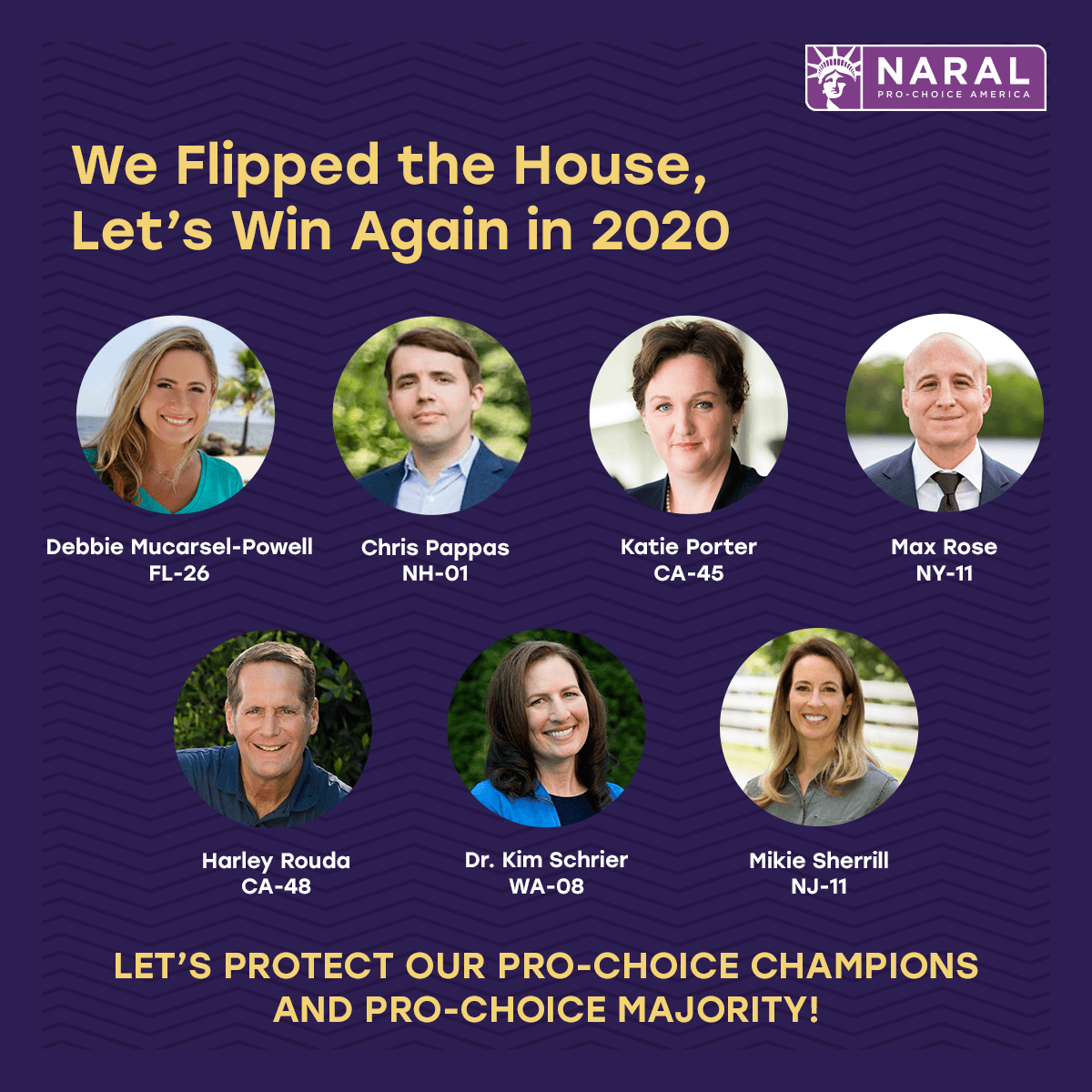 We're thrilled to be going to bat again for our newly-elected, pro-choice champions in the House!