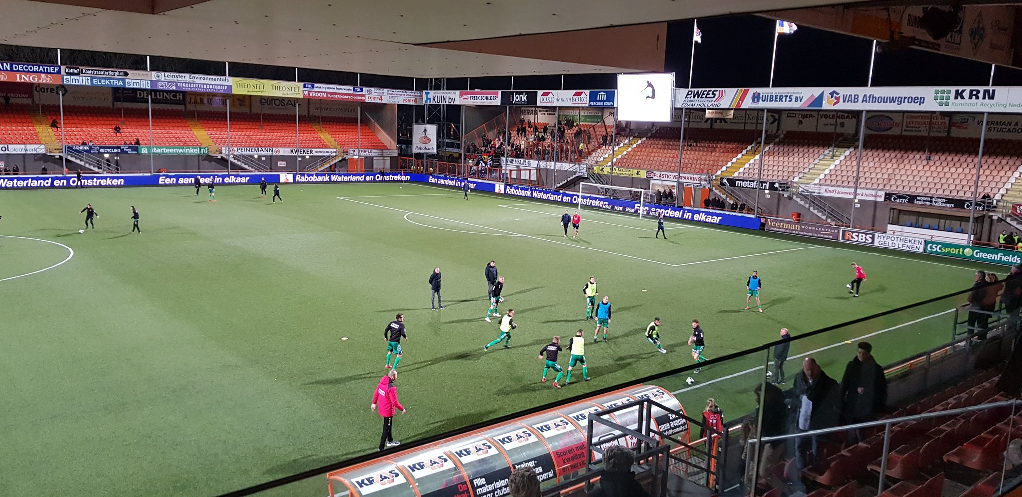 Leeg stadion FC Volendam