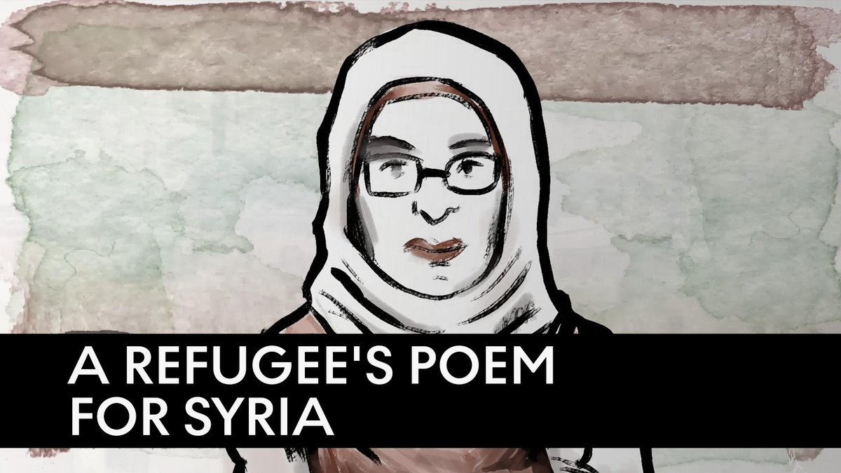 """""""I'm trying to design a City of Love, Peace, Concord and Virtue, free of mess, war, wreckage and misery.""""  Syrian refugee and award-winning poet Amineh Abou Kerech shares her personal lament for Syria."""