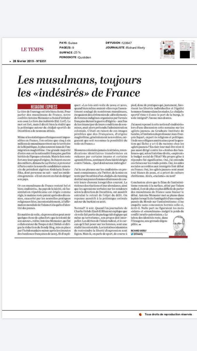 Antoine Menusier On Twitter Dans Le Temps L Article