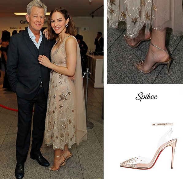 online retailer cba55 796c3 Katharine McPhee in Christian Louboutin Spikoo at the ...