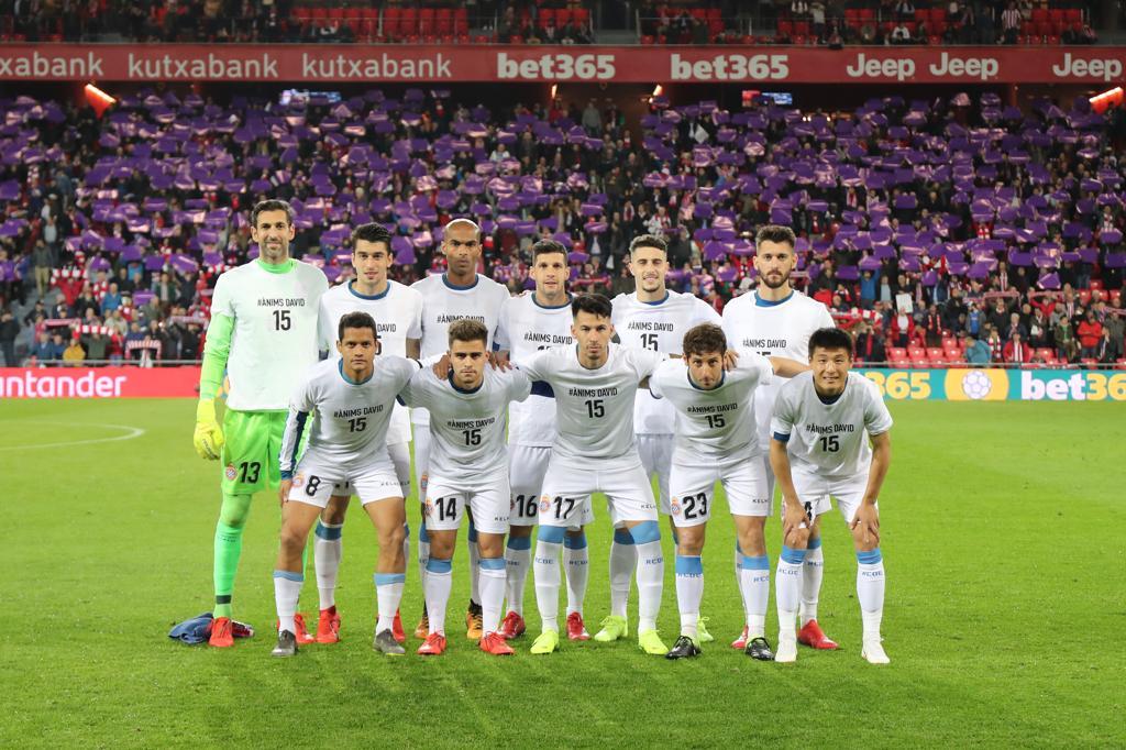 El once inicial del Espanyol ante el Athletic.