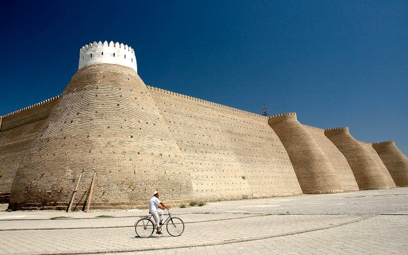 Walls of the Ark Fortress. Bukhara, Uzbekistan, Silk Road. trekearth.com/gallery/Asia/U…