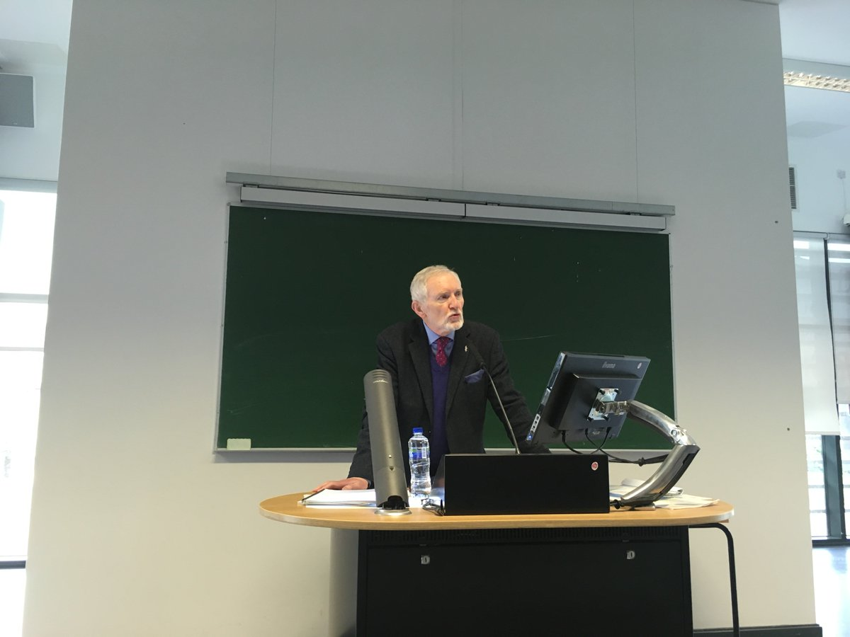 It was an absolute joy to have Michael Farrell speak to students in @MaynoothLaw on Tuesday on 'Using the law for social change'. In particular, @farrell_michael spoke about the Lydia Foy and deaf juror litigation  @MaynooothSJW19 #humanrightshero #MU_CalltoAction