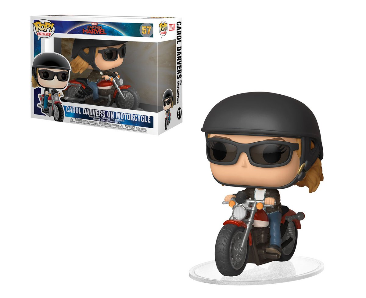 RT & follow @OriginalFunko for a chance to WIN a #CaptainMarvel Carol Danvers on Motorcycle Pop! Ride. #FunkoWomenofPower #InternationalWomensDay