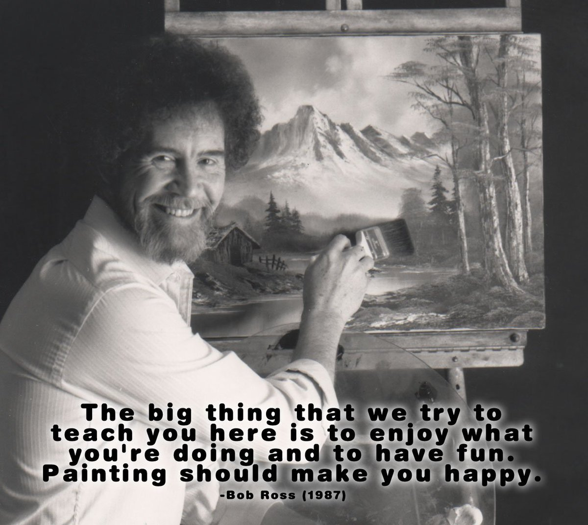 Bob Ross Official At Bobrossofficial Twitter