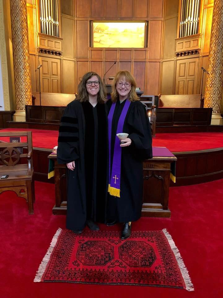 We celebrate women & welcome them to share in our ministry in leadership on #InternationalWomansDay & every day. @revsusansparks is the first woman Senior Minister in our church's history. We build on this tradition w/ our new intern @HeatherKetchum from @UnionSeminary!