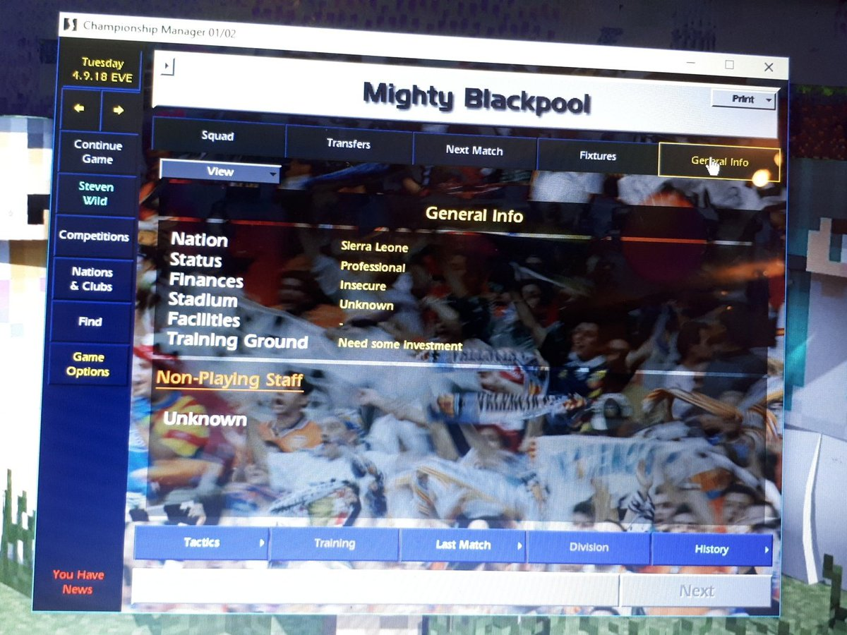 Never heard of Mighty Blackpool before! #CM0102