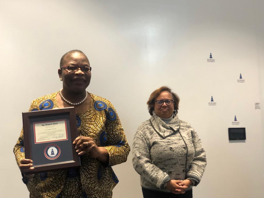 Howard University Vanguard Woman of the Year Award 2019. 💪🙏