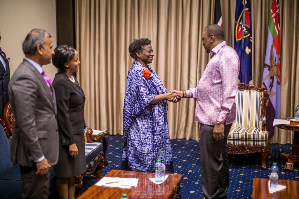 Good morning Kenya 🇰🇪. @UNFPA Chief, @Atayeshe met @UKenyatta. 2 very important matters were discussed.  1. He wants the fight against #FGM to be stepped up.@UnKenya fully onboard. 2. Journey to the Nairobi Summit #ICPD25 has begun. Keeping the promise ➡️ https://www.unfpa.org/press/nairobi-summit-advance-icpd-programme-action …