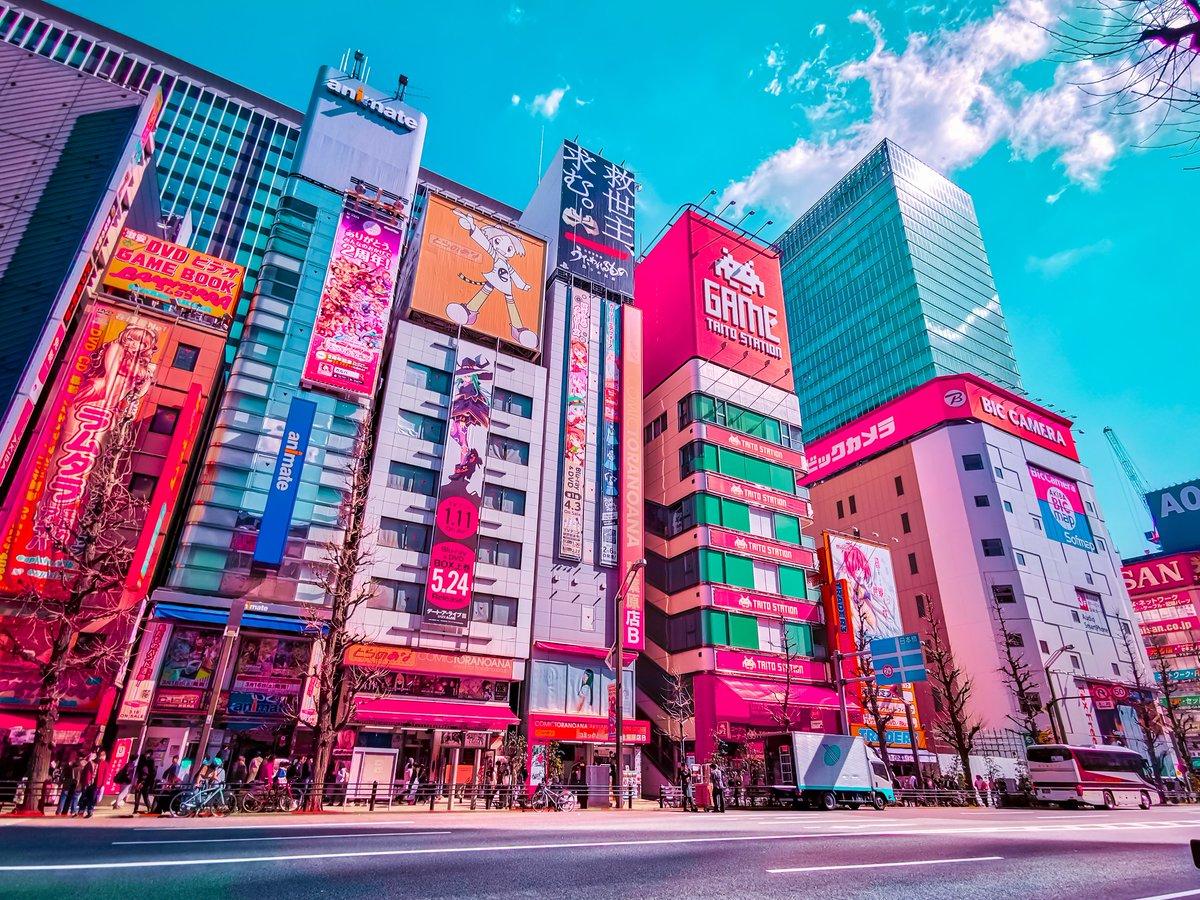 Alex Knight Agk42 On Twitter Anime Town Akihabara Tokyo Anime Neon Japan