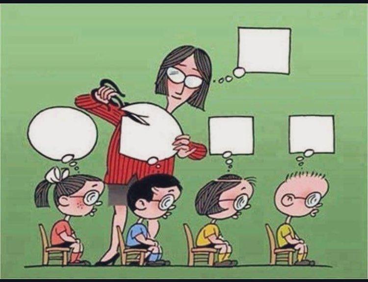 Menemukan gambar ini di facebook. Sekolah formal menciptakan keseragaman.
