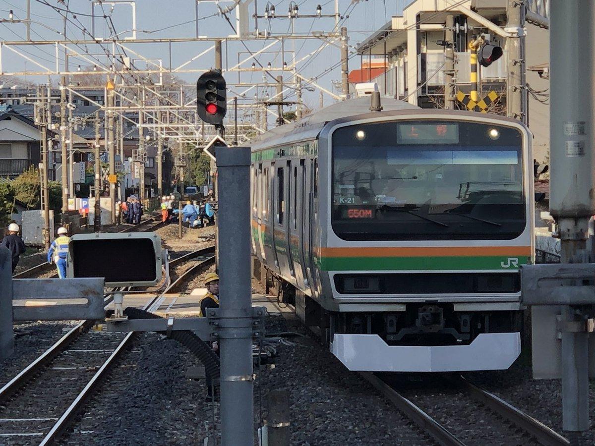 宇都宮線の蓮田駅付近で人身事故の現場画像
