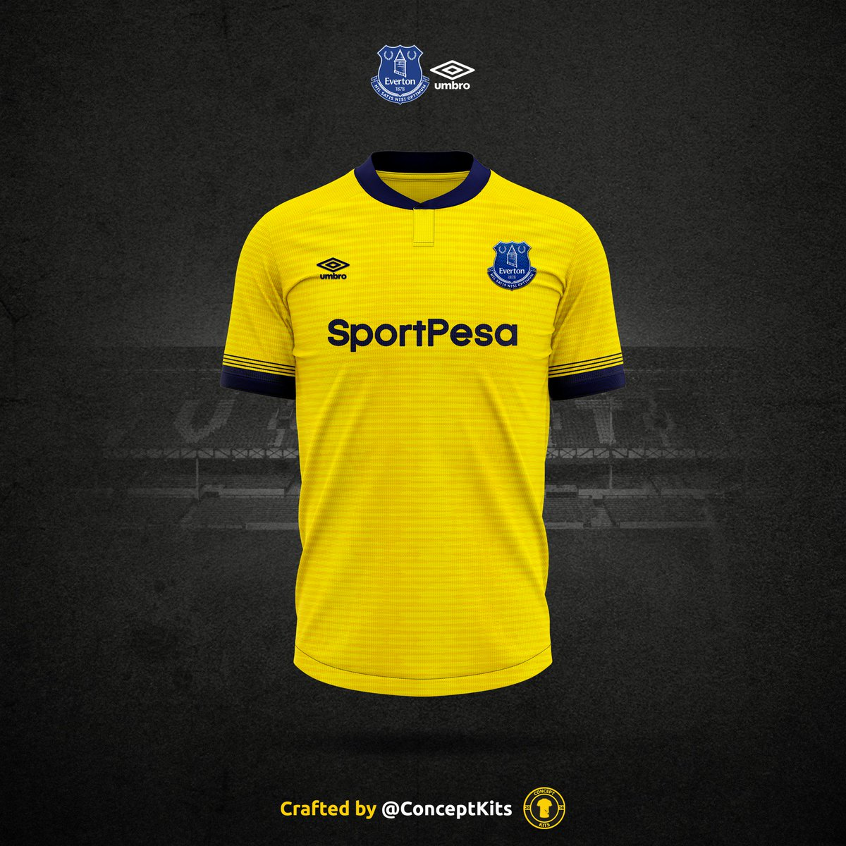 buy popular 8335f 932c9 Everton Football Club away kit concept for the 2019/20 ...