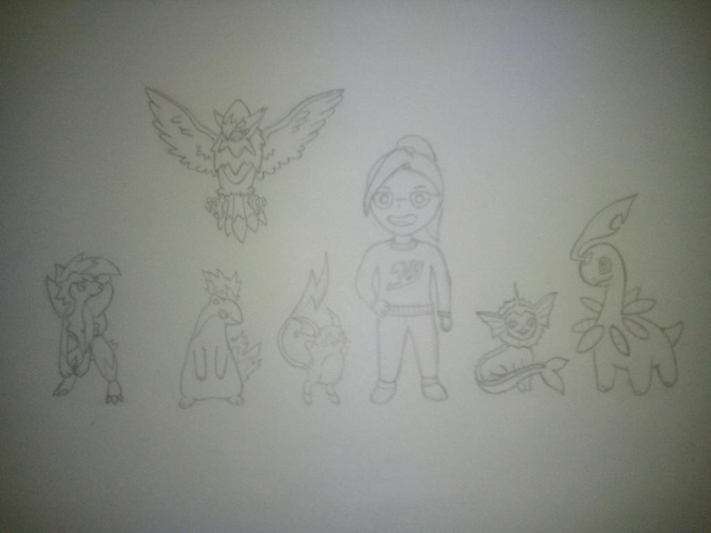 Intentando hacer un #fanart de mi team fav de #pokemon  #Anime #Dibujo #EquipoPokemon #BlancoYNegro