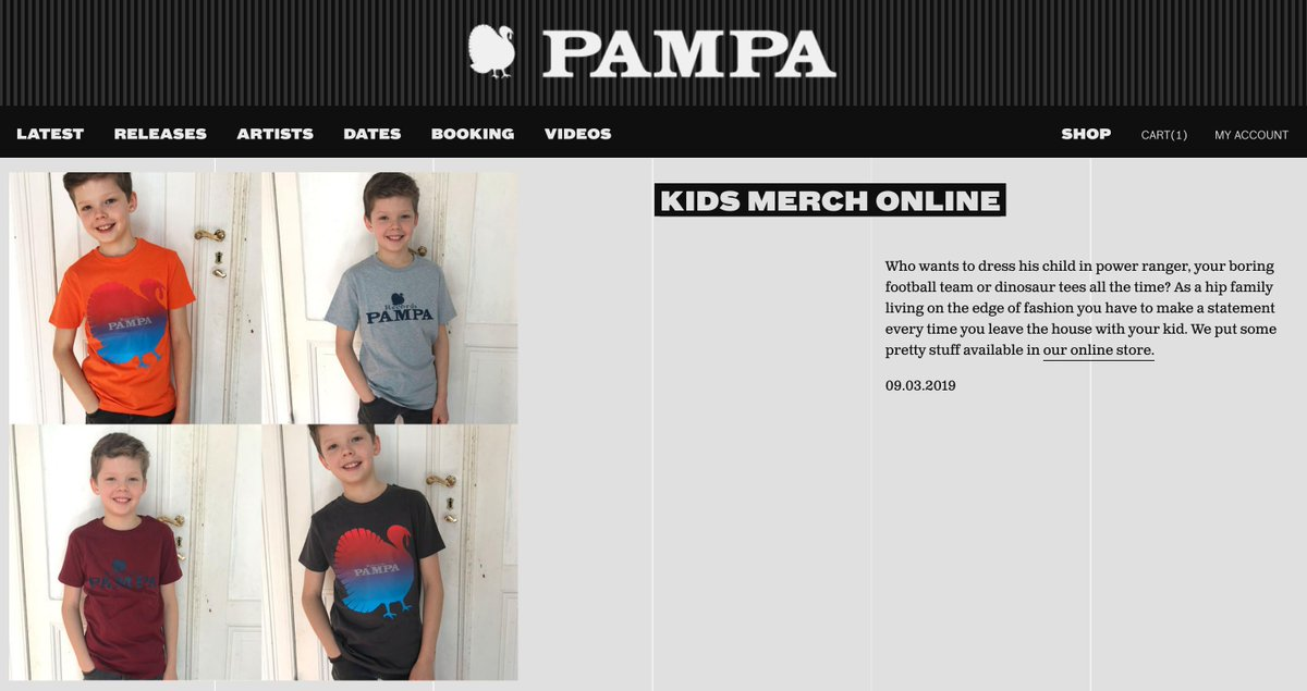 Who wants to dress his child in power ranger, your boring football team or dinosaur tees all the time? You have to make a statement every time you leave the house with your kid. We put some pretty stuff with a clear statement online: pamparecords.com/products/t/3