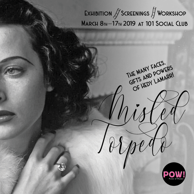 Opening tonight at 7:30 at 101 Social Club CT9 2QY! An evening of films, music, Italian food and drinks, with an exhibition of posters telling her incredible story (on till 17th). #101socialclub #powthanet19 #hedylamarr