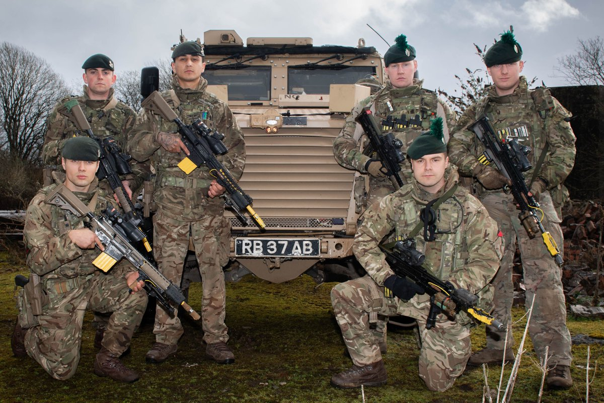 British Troops ready for deployment.