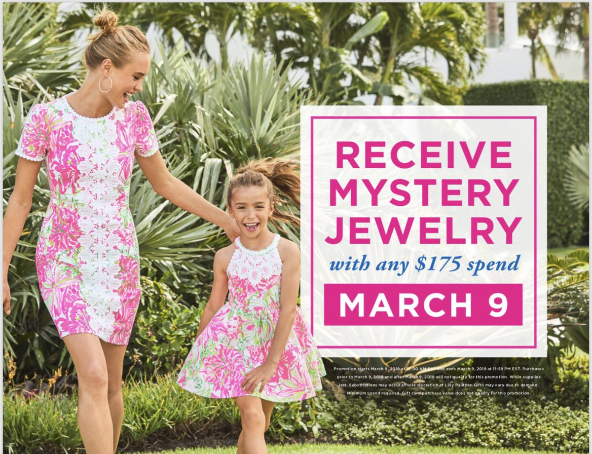 f75e52bfeca69e Today, join us in-stores and online as we help you celebrate in #Lilly.  We're giving you mystery jewelry with any $175+ spend. http://Oceanpalm.net  ...
