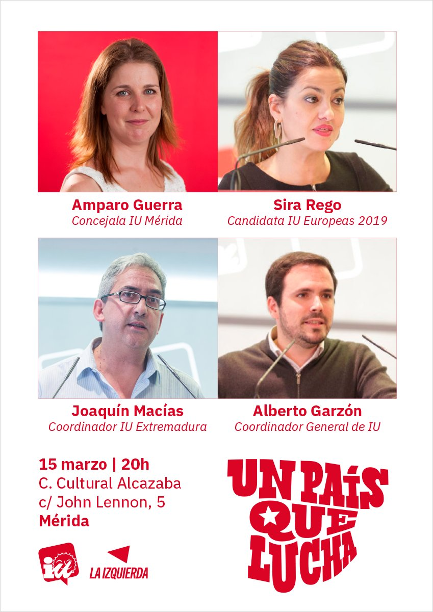 Este viernes en #Mérida @agarzon y @sirarego @iunida