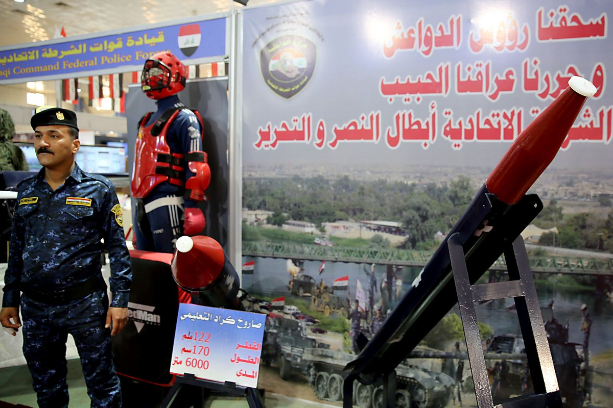 رئيس اركان الجيش العراقي يفتتح معرض الامن والدفاع ويؤكد أن شركة الصناعات الحربية العراقية بدأت بالتنفس D1OtlosWwAIA8Ud