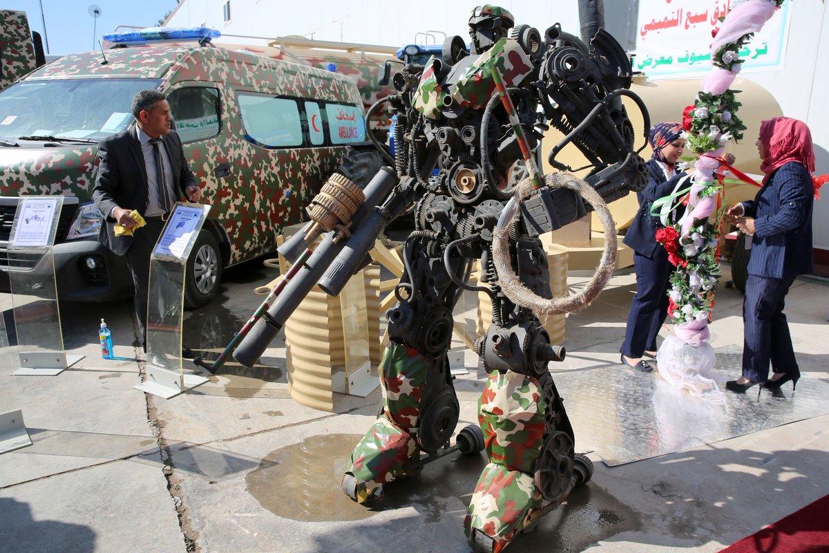 رئيس اركان الجيش العراقي يفتتح معرض الامن والدفاع ويؤكد أن شركة الصناعات الحربية العراقية بدأت بالتنفس D1OtlovXcAEP5LC