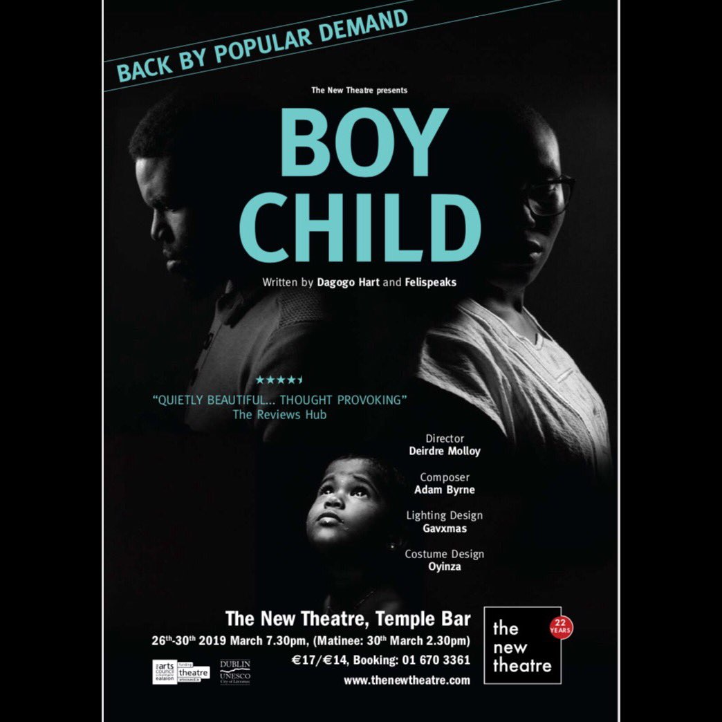 Wadddup! #BOYCHILD is back again and this time even bigger and better! Happy to be a part of this! Come and be amazed by the breathtaking spoken word play written by @FeliSpeaks and @dondagz which I will be acting in. We sold out last year so grab your tickets NOW 💁🏾‍♀️🧚🏾‍♂️❤️🤗