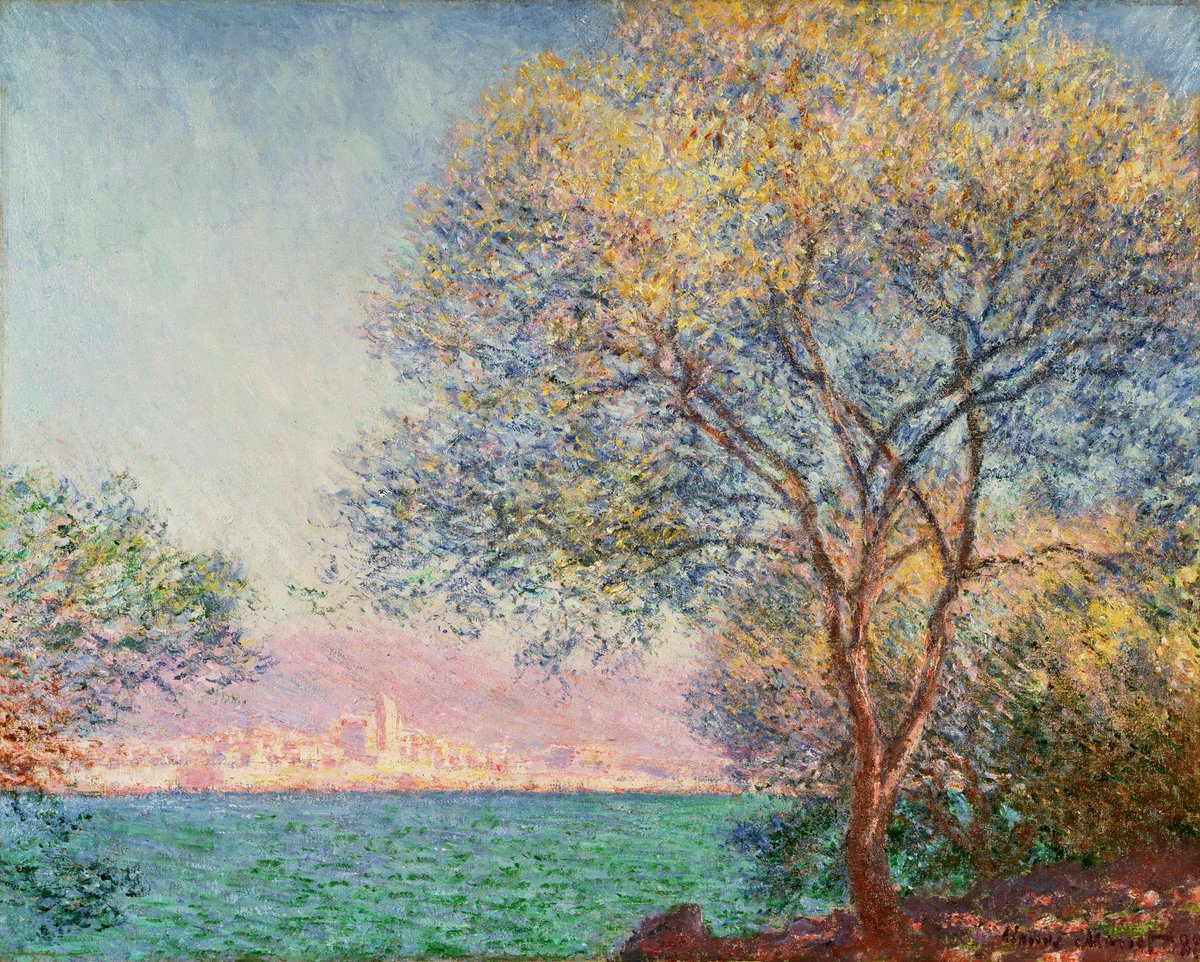 "Claude Monet on Twitter: ""Antibes in the Morning, 1888 #claudemonet  #impressionism… """