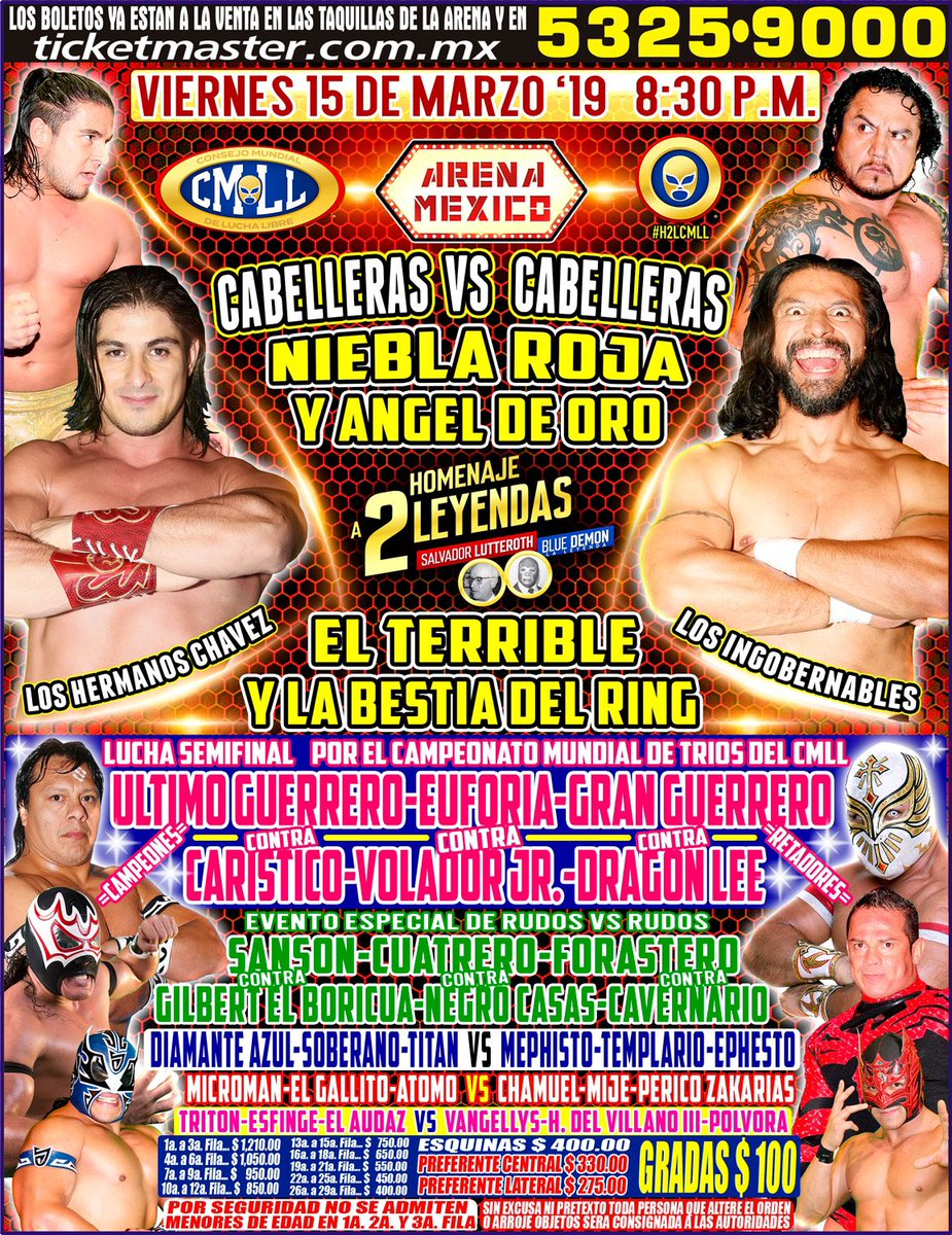 CMLL: Una mirada semanal al CMLL (Del 7 al 13 de marzo de 2019) 19