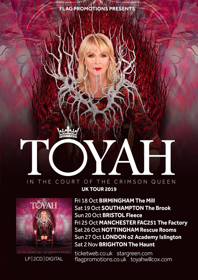 Toyah Willcox On Twitter Thank U 4 Placing Crimson Queen In Amazon Pre Order Album Charts Come See It Performed Live This Autumn Xxx Tickets On Sale Mon Https T Co Udpvccndbb Https T Co Qjbqp8qehz