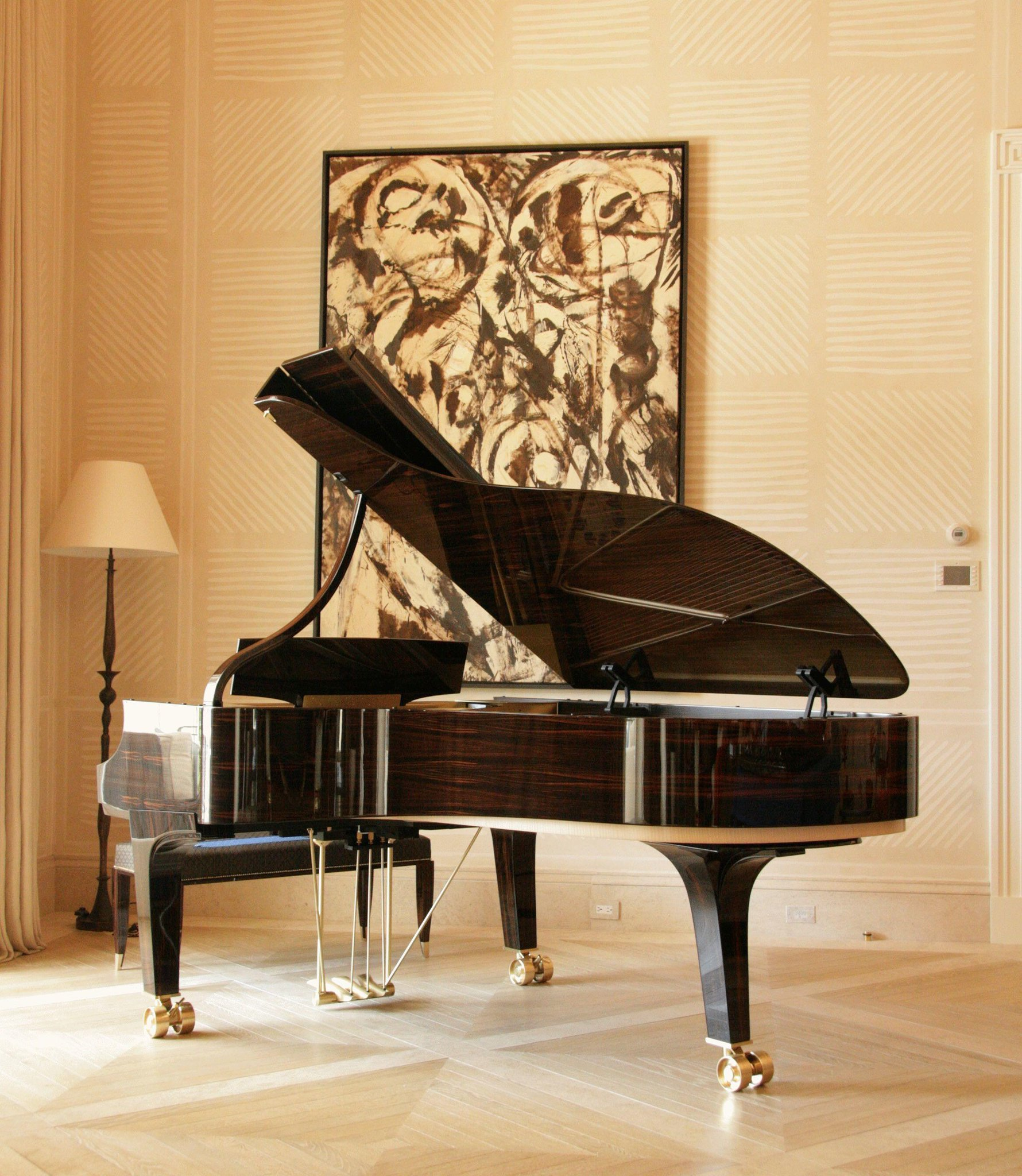 """The Arabesque piano combines the grace of the classical dancer and the intertwining motif witnessed in Moorish design — sound in movement."" — @DakotaJacksonNY on his piano design for Steinway's 160th Anniversary. Discover more Limited Edition Steinways: https://www.steinway.com/pianos/steinway/limited-edition"